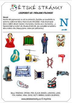 logopedický list N - děti Logos, Logo, Legos