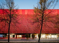 lahdelma & mahlamäki clads helsinki shopping center with undulating façade of ceramic tiles | Netfloor USA