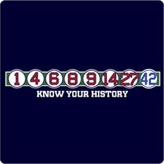 Know Your History T-Shirt. Boston's franchise is perhaps the most historic in all of baseball. Do you know your history? This t-shirt displays the retired numbers much like they do at Fenway. http://www.chowdaheadz.com/retired-numbers-t-shirt.html