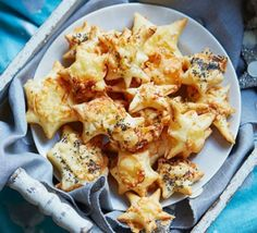 Super easy puff pastry cheese stars.