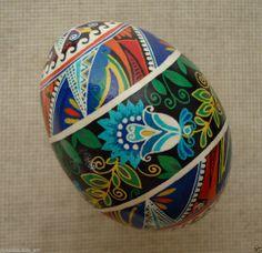 Ukrainian Pysanka by Ira. / HEN egg shell / Pysanky