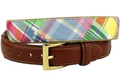 8dc76748af9 Yacht Rock Special Leather Tab Belt in Pastel Madras