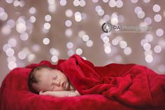 Newborn baby arrived just in time for Christmas - Newborn baby Photo props by DA Photography, www.daphotostudio.com