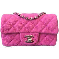 Pre-owned Chanel Mini Flap Pink Cross Body Bag ($2,995) ❤ liked on Polyvore featuring bags, handbags, shoulder bags, pink, chanel shoulder bag, chanel handbags, crossbody shoulder bags, crossbody handbag and chanel purse