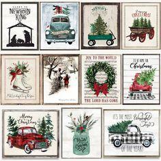 Vintage Market Christmas Prints l 2 Sizes Christmas Past, Cozy Christmas, Christmas Presents, Vintage Christmas, Christmas Decorations, Christmas Images, Christmas Ideas, Christmas Crafts, Christmas Ornaments