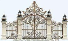 Steel Gate Design, Front Gate Design, Main Gate Design, House Gate Design, Door Design, Exterior Design, Dream Home Design, Modern House Design, Compound Wall Design