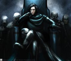 "knights-of-ben-solo: """"The Aftermath"" Sitting at his throne with his Knights alongside him, Ren's thoughts are with the lowly scavenger…wondering where she was…what she was doing…and the memory of..."