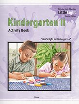 Christian Light Publications Kindergarten II program: 5 workbooks, 5 activity books $34 as a set. Available Summer 2014
