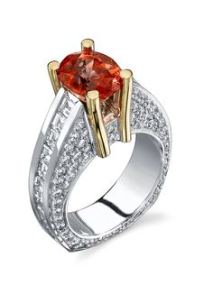 This Orange ring captures anyone's attention!