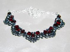 READY TO SHIP Swarovski Crystal and Pearl Lace by WhimsyBeading, $35.00
