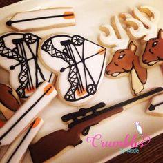 Hunting Season Cookies - Crumbles by Nicole Fish Cookies, Man Cookies, Iced Cookies, Cut Out Cookies, Cute Cookies, Cupcake Cookies, Sugar Cookies, Frosted Cookies, Cupcakes