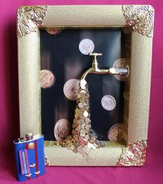Ecaterina Ples-A's media analytics. Crafts For Teens, Diy And Crafts, Paper Crafts, Coin Crafts, Coin Art, Amazing Paintings, Doll Painting, Frame Crafts, Mothers Day Crafts