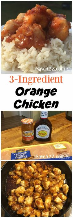 3 Ingredient Orange Chicken Sauce Recipe 3 Ingredient Orange Chicken Recipe I love simple recipes and better yet, I love when there are just a few simple ingredients like this 3 Ingredient Orange Chicken Sauce we just made. If you have orange Orange Chicken Sauce, Easy Orange Chicken, Orange Chicken Crock Pot, Chicken Sauce Recipes, Healthy Chicken Recipes, Cooking Recipes, Chicken With Orange Marmalade, Orange Sauce Recipe, Chinese Orange Chicken