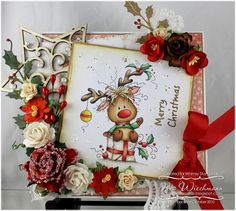 Paper Crafting in Cocoa: More Whimsy November Release Inspiration - Rudolph