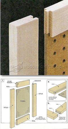 Making Stub Tenon Doors - Cabinet Door Construction Techniques | WoodArchivist.com