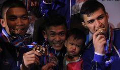 Tim karate Jawa Barat tampil sebagai juara umum setelah mengumpulkan 5 medali emas, 3 perak dan 2 perunggu. #PON2016