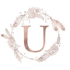 Letter U Rose Gold Pink Initial Monogram Duvet Cover by Nature Magick - Queen: x Monogram Pillows, Monogram Letters, Monogram Initials, Canvas Letters, Canvas Wall Art, Canvas Prints, Monogram Wallpaper, Cartoon Girl Drawing, Rose Gold Pink