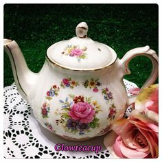 """18 Likes, 3 Comments - Glow Tea Cup (@glowteacup) on Instagram: """"Gracie rose chintz tea for one stacked teapot. #teacup #teacupcollector #teacupandsaucer…"""""""