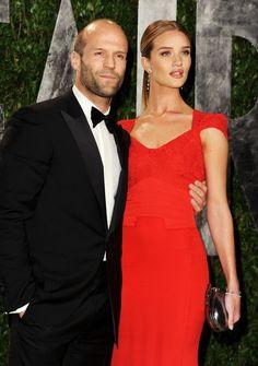 Jason Statham  Rosie Huntington-Whiteley || 2012 Vanity Fair Oscar Party in West Hollywood, CA