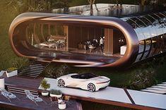 Futurnex: Ivan Venkov muestra un nuevo concepto de hogar del futuro Glass Stairs, Stock Imagery, Famous Buildings, Yanko Design, Concept Home, Inspired Homes, Amazing Architecture, House Design, Instagram
