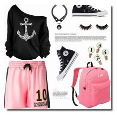"""""""Numbers"""" by ucetmal-1 ❤ liked on Polyvore featuring Dolce&Gabbana, WithChic, Converse, Napa Home & Garden and Everest"""