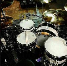 Travis Barker OCDP drums set up