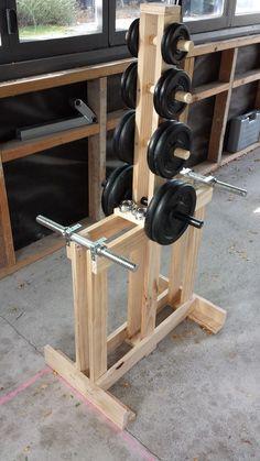 61 Trendy Home Gym Diy Equipment Money - Little Glass Jar Home. - Home Gym Home Made Gym, Diy Home Gym, Gym Room At Home, Garage Gym, Basement Gym, Diy Gym Equipment, No Equipment Workout, Fitness Equipment, Dumbbell Rack