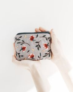 // hand-embroidered purse by Cedric & Melody