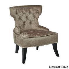 Classic elegance meets high comfort with this tufted chair from Ave Six crafted from solid wood and high easy-care velvet. The armless design, nail-head trim and piped seam adornments make this the perfect addition to your home.