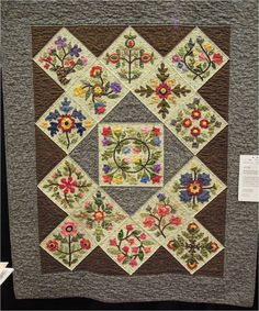 Honoring Emma: An Album Quilt by Gerry Fischer.  Design by Lori Smith; photo by Quilt Inspiration