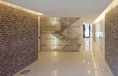KjellanderSjoberg Annedalsterrassen entrance Stair Railing, Stairs, Entrance, Villa, House, Inspiration, Furniture, Design, Home Decor