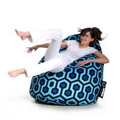 Puf Retro ROCKET - JABBA Design #puffotele #puf #beanbag #designerbeanbag #blue #niebieski #shining #jabbadesign Retro, Bean Bag Chair, Design, Furniture, Beanbag Chair, Home Furnishings, Retro Illustration, Bean Bag
