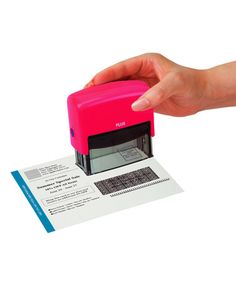 Pink Guard Your ID Large Stamp & Mini Roller #zulily #zulilyfinds