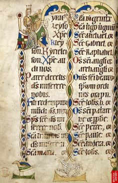 Litany of the Saints -Harley MS 2890, f. 198v - British Library