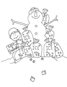 Free Dearie Dolls Digi Stamps: Icy Snowman