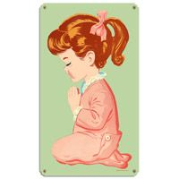 Praying Girl Tin Sign  http://www.retroplanet.com/PROD/37679