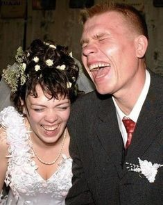 I keep coming across this random laughing on their wedding day, and it makes me happy - so on the board it goes!