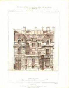 Paris Hotel De Prony Architectural Elements 1883 Architecture Print