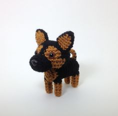 German Shepherd Stuffed Animal Amigurumi Dog Crochet Puppy Plush Doll / Made to Order. $25.00, via Etsy.