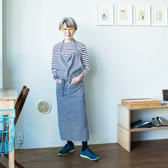 SW11Kitchen店主・渡辺靖子さんに聞く、大人の普段着おしゃれ - 北欧、暮らしの道具店 Japan Fashion, Diy Fashion, Fashion Beauty, Womens Fashion, Fashion Tips, Fashion Over Fifty, Female Pictures, Mature Fashion, Japanese Outfits