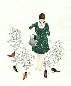 Regando o jardim