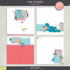 Amy Martin's One of Each Templates
