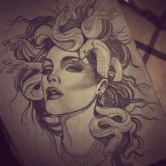 Dope Medusa sketch drawing by Natcha