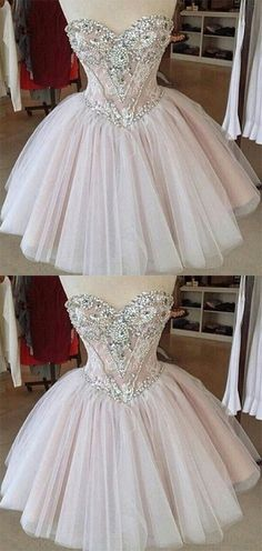 Homecoming Dress,Tulle Homecoming Dresses,Lace Homecoming Gowns,Cute Party Dress,Short Prom Dress,Elegant Sweet 16 Dress