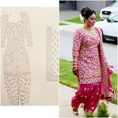 """""""It's all in the details! We sketch out each custom outfit to ensure it is perfect for our clients. Here is a sketch and final product of our client…"""""""