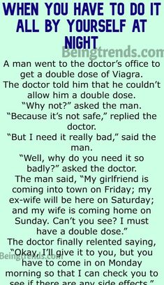 Watson went on a camping trip - Funny StoryOne Jew rose up from morning sleep - Funny StoryTwo Men Lost Their Wife at A FestivalLittle Johnny With His … Dr Watson, Wife Humor, Doctor Humor, Joke Of The Day, Doctor Office, Funny Stories, Going Crazy, Funny Jokes, Lost