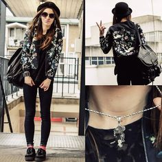Jacket, Puppy Necklace, H&M Hat, Primark Backpack