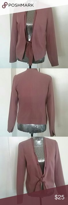 Gap Clay color polyester blazer w/tie front. Can be worn tied or untied. GAP Jackets & Coats Blazers