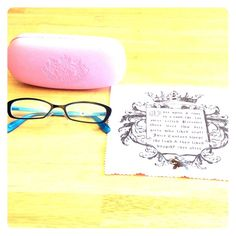 Adorable Juicy Couture Frames Have your prescription put in these chic Juicy Couture frames! Black metal frame with teal on the inside. Super cute high heel logo on the right arm band, and crown logos on the nose piece. Case and cleaning cloth included. Measures: 50mm lens, 17mm bridge, 140mm arm length. Juicy Couture Accessories