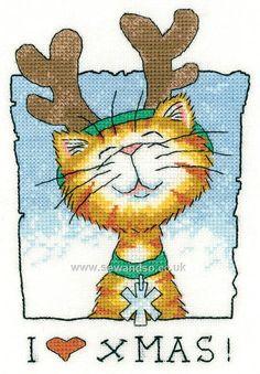 Buy I Love Christmas Cross Stitch Kit Online at www.sewandso.co.uk